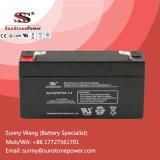 Tipo recargable de plomo sellado batería 6V 1.3ah del AGM de la seguridad