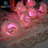 Banquete de boda rosado Decoration y Navidad Gift del LED 3 Meter 20 LED Rose Flower String Lights LED