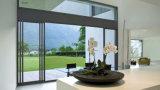 2014 раздвижной двери горячих конструкции алюминиевых/дверь сползая стекла