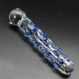 Dildo di vetro del giocattolo del sesso per le donne Injo-Dg155