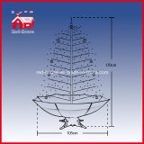 Base rosso Delicate variopinto Ornaments Snowing Christmas Tree con il LED