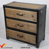 Organizador de sala de estar único Antique Wooden 3-Drawers Storage Cabinet