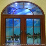 Anerkanntes UPVC Flügelfenster-Fenster des besten Preis-Cer-mit dekorativem Streifen