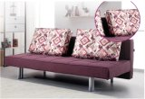 Wein-Rotes Gewebe-Sofa-Bett für Haus-Gebrauch (SB002)