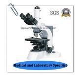 Microscopio biológico infinito del laboratorio de Trinocular