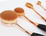 Nuevos cinco pedazos del cepillo de dientes durable de los kits del cepillo oval del maquillaje
