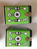 De vierkante Doos van het Tin met Slot en het Zeer belangrijke Vierkant van het Tin van het Pakket met Tin