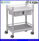 China van uitstekende kwaliteit kostte ABS de Kar/het Karretje van het Ziekenhuis van het Gebruik van de Noodsituatie