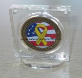 Caja magnética del sostenedor de la exhibición de la moneda del desafío (HY-YX1138)