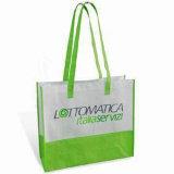 Bolsos de compras verdes no tejidos reutilizables (LJ-NWB28)