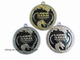 Zinc Alloy su ordinazione Soft Enamel Stock Blank Medal con Ribbon