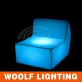 Luz colorida do sofá do diodo emissor de luz/sofá ao ar livre do diodo emissor de luz Sofa/LED do plástico da mobília ao ar livre