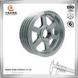 Fundición de acero modificada para requisitos particulares del bastidor de arena de la rueda de la polea de la pieza de acero fundido de la rueda de la polea