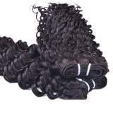 도매 Cheap Deep Wave Hair Extension, Human Hair Weft 또는 Weaving