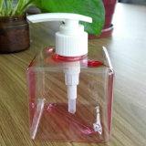 Подгонянная бутылка косметики бутылки квадратной бутылки 250ml пластичная
