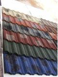 Azulejo de material para techos revestido del metal de la piedra colorida de la alta calidad