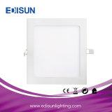Iluminação de painel decorativa quadrada/redonda Recessed ultra fina do diodo emissor de luz (3-60W) com Ce RoHS