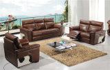 Tailles importantes de couleur de Brown pour le jeu de sofa de cuir de villa