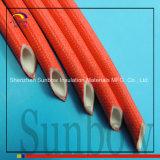 Silikon-Gummifiberglas-Sleeving Gummi innerhalb des Fiberglases draußen