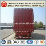 di 3-Axle Van Type Red della tenda rimorchio laterale semi