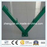 Cerca revestida elétrica do engranzamento do arame farpado do aeroporto de Galvanised&PVC