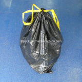 Bolso de basura plástico del bolso de basura de la alta calidad con el lazo