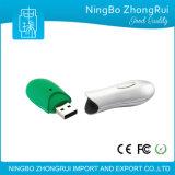 Vara revestida de borracha macia da memória da movimentação do flash do USB da forma confortável quente do amendoim do toque da venda