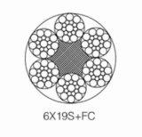 직류 전기를 통한 항공기 케이블 6*19+FC; 철강선 밧줄