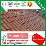 Vendita calda d'acciaio rivestita delle mattonelle di tetto del metallo della pietra di tecnologia della Nuova Zelanda in Nigeria