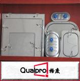 Porta de acesso galvanizada, isolada da ATAC para o duto redondo AP7411
