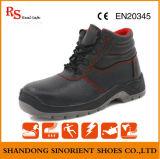 A segurança cortada meio do couro genuíno de sapatas de segurança industrial carreg o preço