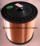 Diâmetro de cobre 0.18mm de Clad Alu CCA Alloy Conductor Ccaa Wire