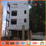 Panneau de revêtement en aluminium externe de mur d'enduit africain d'Ideabond 4mm PVDF
