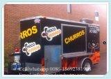 2017 тележка еды горячих сбываний Ce стальная, трейлер еды коробки торгового автомата Strrt передвижной, тележка еды