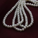 4mmの小型サイズの自然な培養された実質の白い真珠のビードストリング