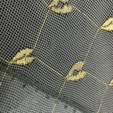 tela neta de mosquito del telar jacquar del oro 50d