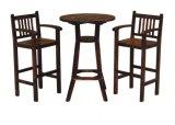 Jogo de jantar de madeira ao ar livre de venda quente para o jardim com quatro cadeiras