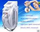 最も熱い美容院装置E軽いIPL及びRFの器械の毛の取り外しおよび皮の若返り機械