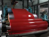 Color rojo brillante Ral de China 3001 bobinas galvanizadas prepintadas del acero PPGI