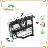 PVC Clear Vinyl Cosmetic Bag de PRO Large Capacity Travel Makeup Organizer com Shoulder Strap