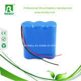 Pacchetto 11.1V 2600mAh 18650 della batteria di litio per gli indicatori luminosi del LED