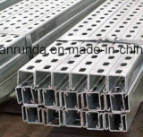 Galvanzied Slotted Steel C Channel / Strut Channel Prix d'usine