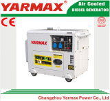 Yarmax Hersteller! Heißer Verkauf! Spitzenverkaufs-elektrisches Anfangsleiser Dieselgenerator 6kVA