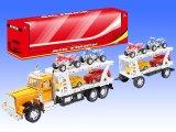 عيد ميلاد المسيح كبيرة احتكاك أطفال عربة لعبة شاحنة مع 8 سيارات صغيرة لأنّ فتى (10206796)