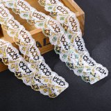 merletto lucido Non-Elastico di 3cm per gli accessori della biancheria intima delle donne