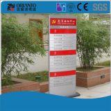 Zette de aluminium Gebogen Muur van de Afdeling van het Bureau van de Serigrafie Teken op