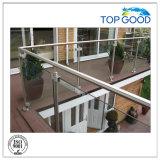 Glasbefestigung/oberstes gutes/Baumaterial/Rohrfitting/Fechten/Stahlrohr/runde Glasschelle/mit Sicherheits-Platten-grosser Edelstahl-Glasclip (80200)