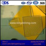 ステンレス鋼のひだを付けられたバーベキューの金網