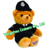 Ours de nounours britannique BRITANNIQUE de police de policier de jouet de peluche de peluche