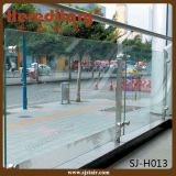 Barandilla de cristal del balcón del acero inoxidable del final de cepillo del montaje del suelo (SJ-H1340)